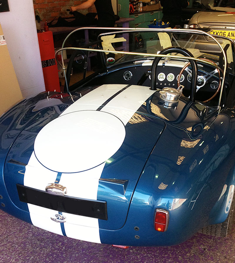 ac cobra car hood repair